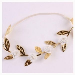 Set of 3 Gold Leaf Headband/Hair Accessory Set
